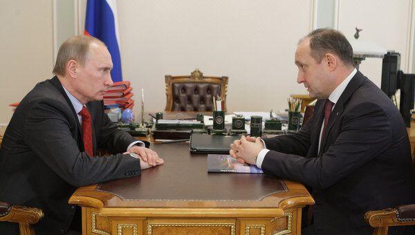 Премьер-министр РФ В.Путин провел встречу с гендиректором ОАО Совкомфлот С.Франком