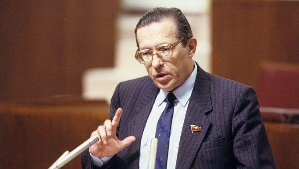 Л. И. Абалкин на заседании комитетов Верховного Совета СССР и комиссий его палат