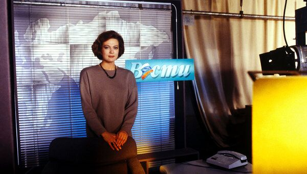 Ведущая программы новостей Вести на телеканале Россия Светлана Сорокина