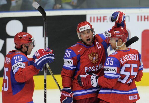 Хоккеисты сборной России. Архив