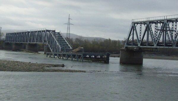 Обрушение железнодорожного моста в Хакасии