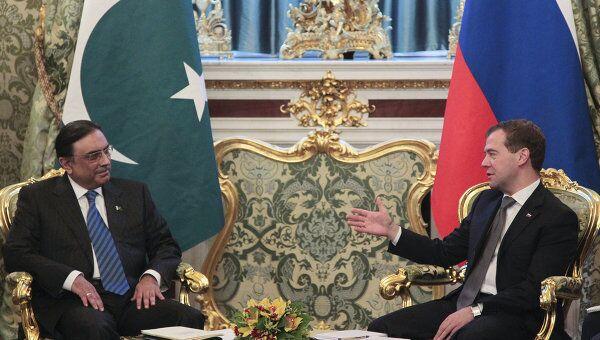 Президент РФ Д.Медведев принял в Кремле президента Пакистана Асифа Али Зардари