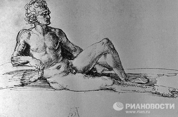 Рисунок Дюрера «Обнаженный»