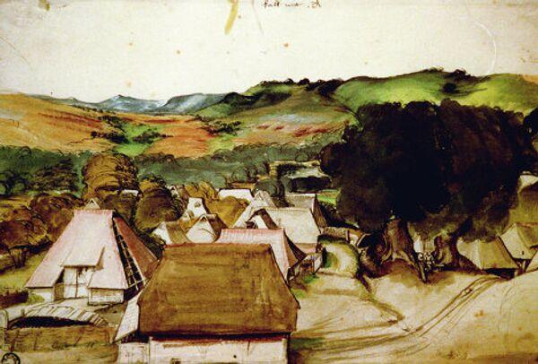 Вид деревни Кальхрейт близ Нюрнберга А. Дюрера
