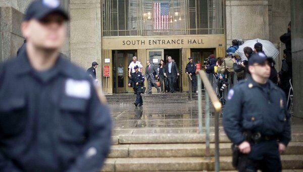 Вход в здание суда в Нью-Йорке. Архивное фото