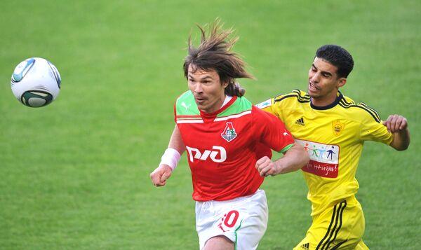 Игровой момент матча Локомотив - Анжи