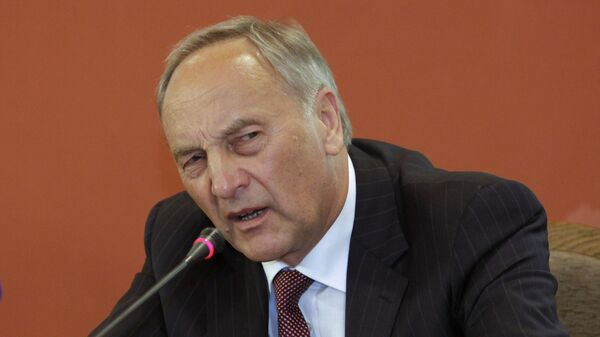 Президент Латвии Андрис Берзиньш. Архивное фото.