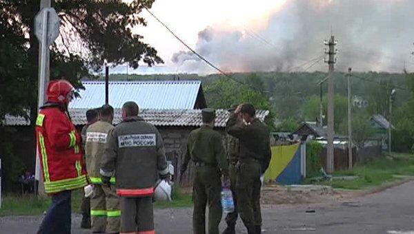 Последствия взрывов боеприпасов в Удмуртии
