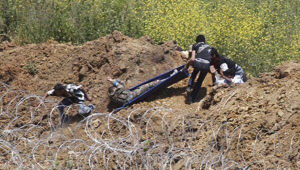 Попытка прорыва израильско-сирийской границы в районе поселения Маждаль-Шамс на Голанских высотах