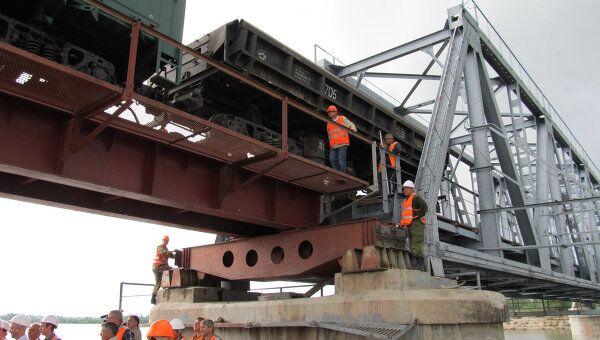 Железнодорожный мост для предприятий Хакасии восстановлен