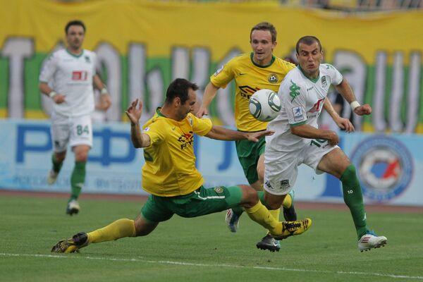 Игровой момент матча Кубань - Краснодар
