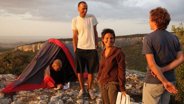 Сергей Лобан и Марина Потапова (в центре) на съемках фильма Шапито-шоу