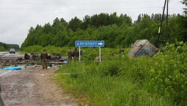 В районе карельского поселка Бесовец, на упал пассажирский самолет ТУ-134