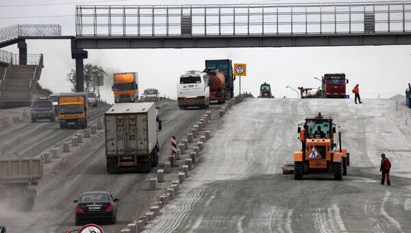 Реконструкция участка автомобильной дороги М-60 Уссури Хабаровск - Владивосток. Архив.