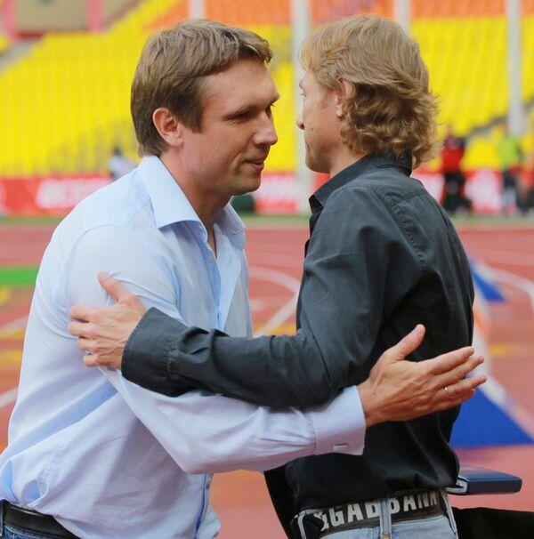 Андрей Талалаев и Валерий Карпин (слева направо)