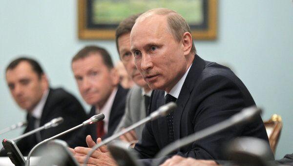 Премьер-министр РФ В.Путин провел встречу с деятелями отечественной мультипликации
