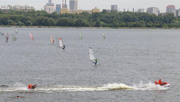Москва-река в районе Строгино. Архив