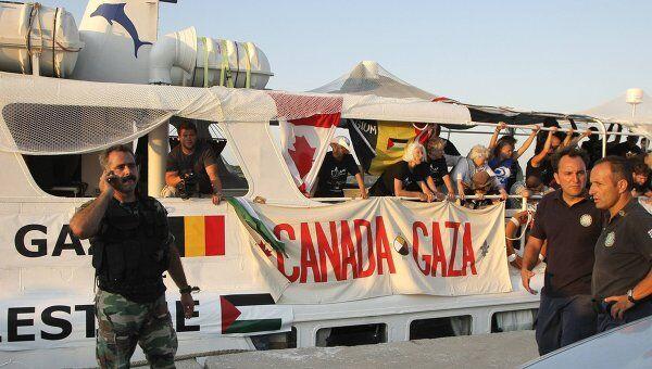 Греческая береговая охрана перехватила судно, шедшее в Газу