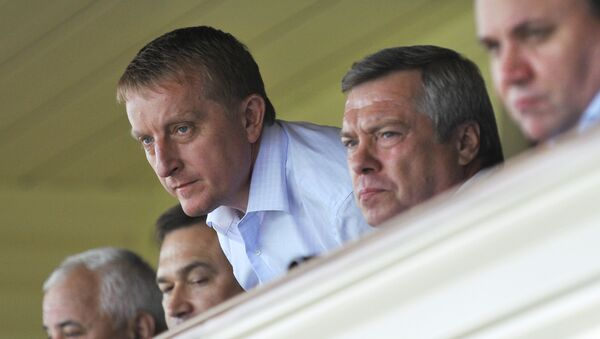 Сергей Горбань (третий слева), архивное фото