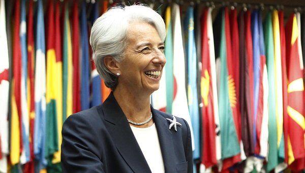 Глава Международного валютного фонда Кристин Лагард в первый рабочий день