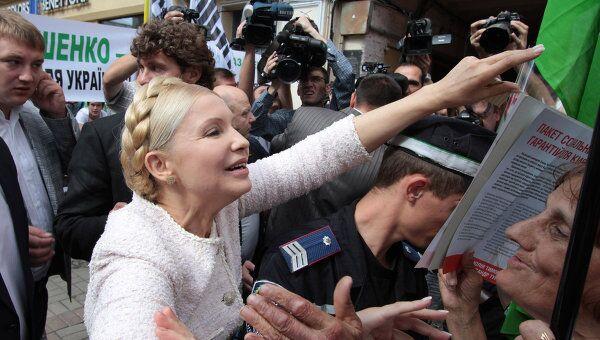Заседание суда по делу экс-премьера Украины Юлии Тимошенко