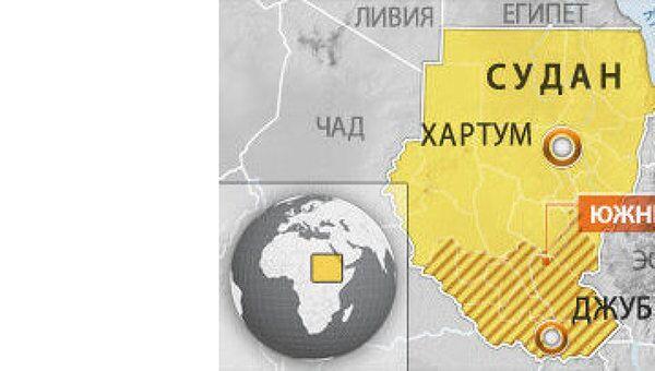 Южный Судан. Карта