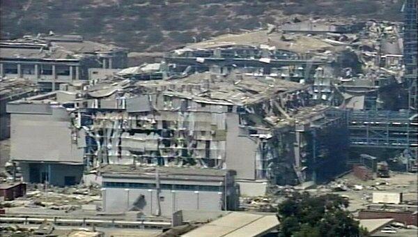 Последствия взрывов на военно-морской базе Эвангелос Флоракис в южной части Кипра
