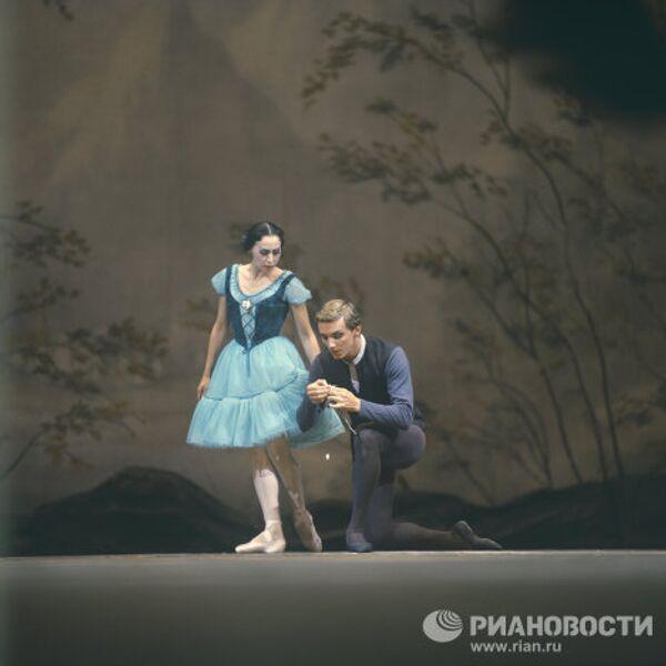Нина Тимофеева и Марис Лиепа на сцене Большого театра