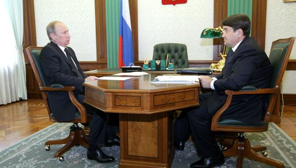 Встреча премьер-министра РФ Владимира Путина с Игорем Левитиным