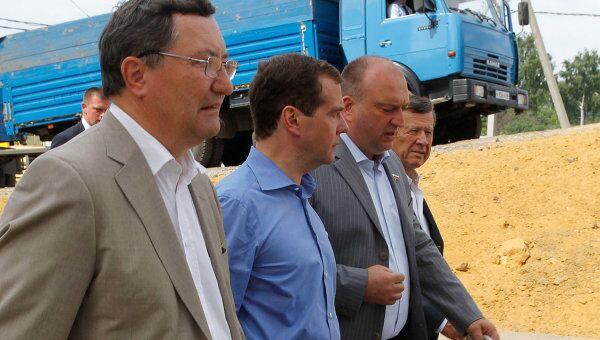 Посещение Дмитрием Медведевым Сабуровского комбината хлебопродуктов.