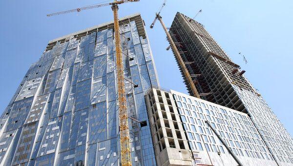 Строительство 49-этажного здания на Мосфильмовской улице