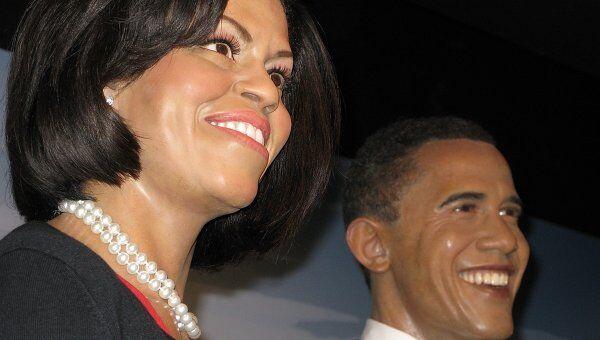 Восковые фигуры Мишель и Барка Обамы