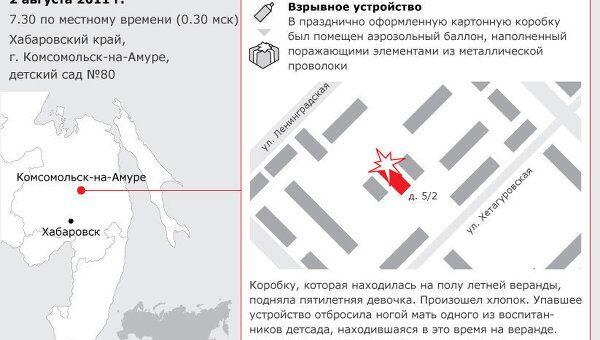 Взрыв в детском саду в Комсомольске-на-Амуре