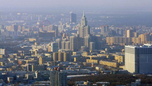 Вид Москвы с Останкинской телебашни