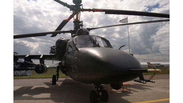Разведывательно-боевой вертолет КА-52 Аллигатор