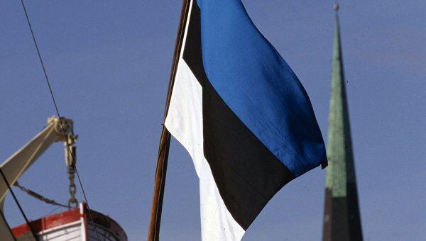 Государственный флаг Эстонии, архивное фото