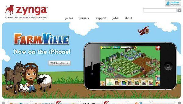 Сайт компании Zynga