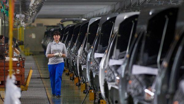 Работа завода ОАО АвтоВАЗ в Тольятти, архивное фото