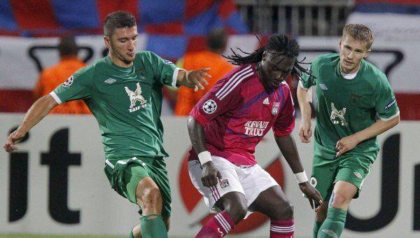 Игровой момент матча Лион - Рубин