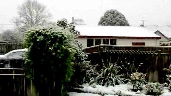 Небывалый снегопад обрушился на Новую Зеландию