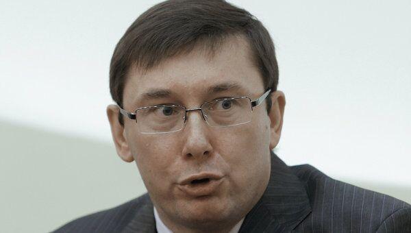 Юрий Луценко во время пресс-конференции в МИД Украины. Архив