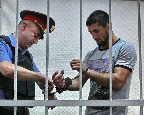 Чемпион мира по смешанным единоборствам Расул Мирзаев в Замоскворецком суде