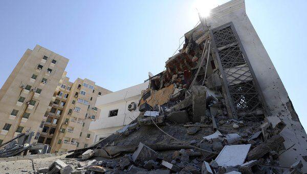 Последствия авиаудара НАТО по Триполи 20 августа 2011 года