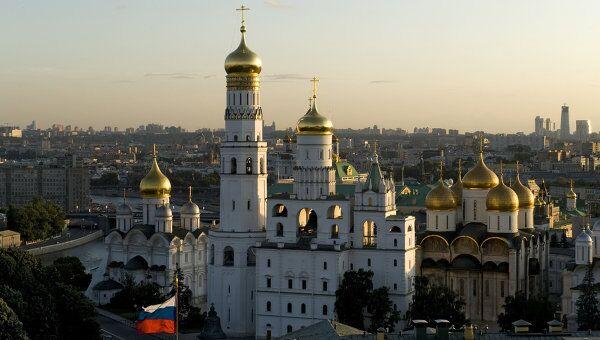 Вид на Москву со Спасской Башни. Архив