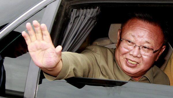 Лидер Северной Кореи Ким Чен Ир. Архив