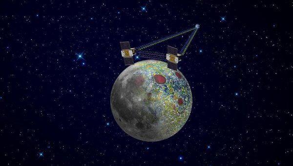 Аппараты GRAIL в работе на окололунной орбите