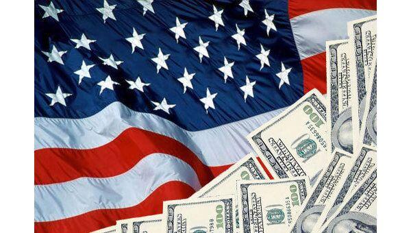 Флаг Америки и Доллары