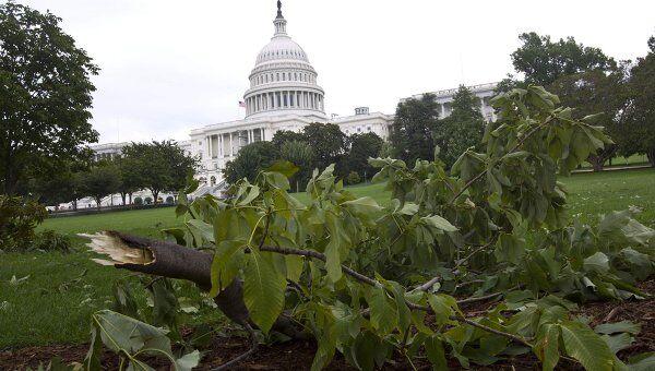 Последствия урагана Айрин в Вашингтоне