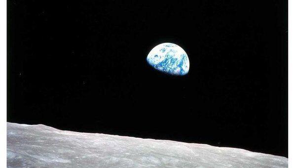 Восход Земли, наблюдаемый с Луны