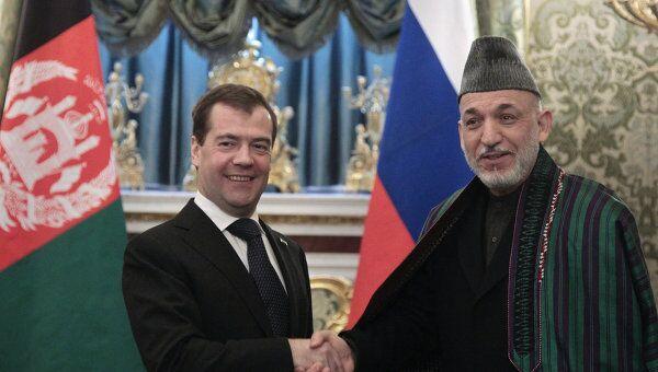 Встреча Дмитрия Медведева и Хамида Карзая